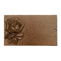 Табличка на памятник «Большая с розой»